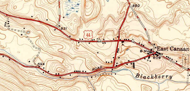 1949 topographic map -- Beckley Furnace area
