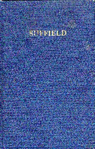 Suffield history book: front cover